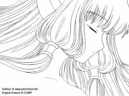 Chobits - Chii (LineArt)
