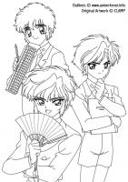 CLAMP School Detectives - Clamp School Detectives (LineArt)