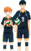 Haikyuu!! - Shouyou Hinata And Kageyama Tobio (transparent)