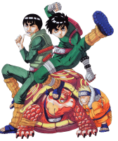 Naruto - Might Gai And Rock Lee (transparent)