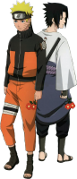 Naruto - Naruto And Sasuke 2 (transparent)