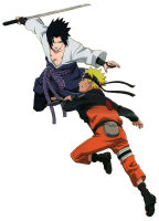 Naruto - Naruto And Sasuke 3 (transparent)
