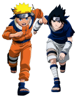 Naruto - Naruto And Sasuke 4 (transparent)