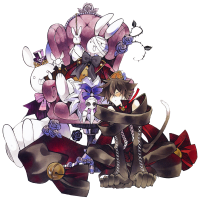 Pandora Hearts - Cheshire Cat (transparent)